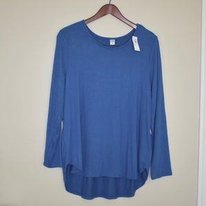 NWT Plush-Knit Scoop-Neck Tee Size XL Petite